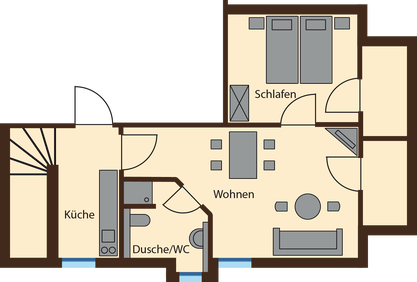 floor plan Lausche View 44 qm