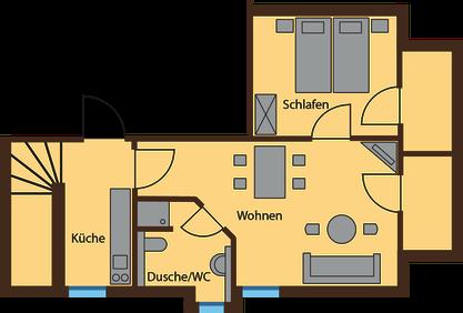 floor plan Lausche View 44 qm