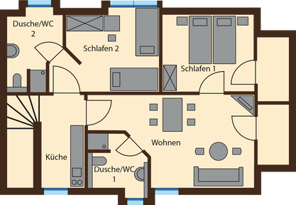 floor plan Lausche View 66 qm