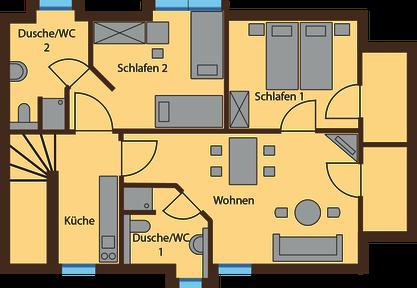 floor plan Lausche View 66 qm