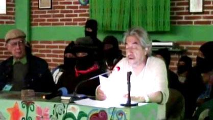 Sergio Rodriguez Lascano på zapatisternes kongres