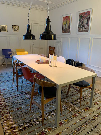 Das Wohnzimmer in der Kopenhagener Apartment