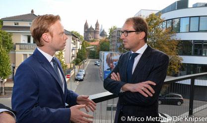 Jan Metzler trifft Bundesverkehrsminister Alexander Dobrindt in Worms