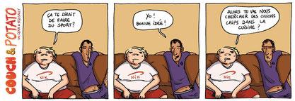 """""""Couch & Potato"""" : série de strips sur les ados réalisée avec Miss Gally"""