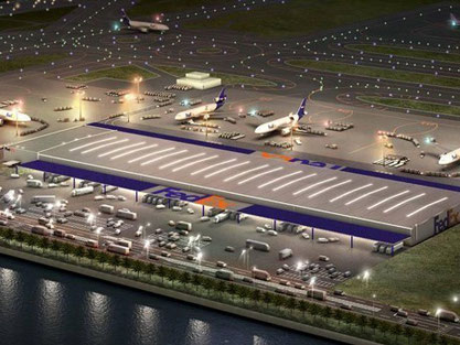 FedEx facilities at Kansai International Airport   -   credit FedEx