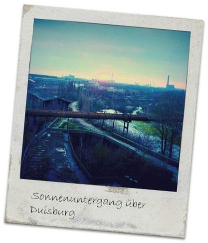 Sonnenuntergang über Duisburg