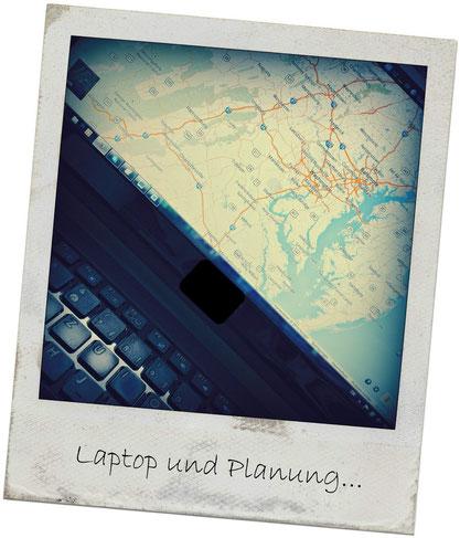 Laptop und Planung...