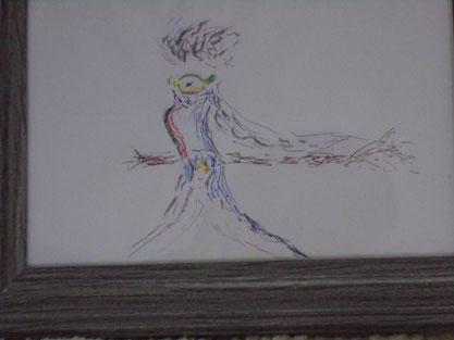 Zeichnung 'Paradiesvogel' von Syelle Beutnagel