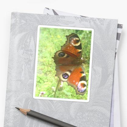 Produktfoto Sticker Redbubble Schmetterling Sisi von Syelle Beutnagel
