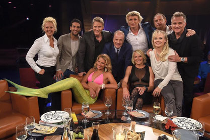 NDR Talkshow with Barbara Schöneberger, Elyas M'Barek, Jörg Pilawa, Mermaid janni, Hubertus Meyer- Burckhardt, Hans Klok, Sonni, Franziska Rubin, Uwe Ochsenknecht and Jörg Knörr