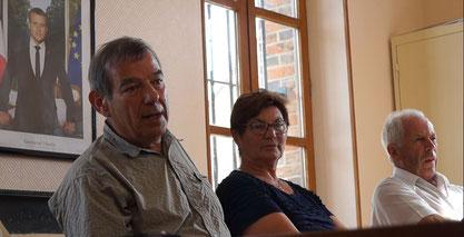 De gauche à droite : Bruno Lahouati, Jacqueline Picart et Claude Picart.