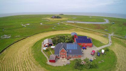 Luftaufnahme des Ferienhof Volkertswarft