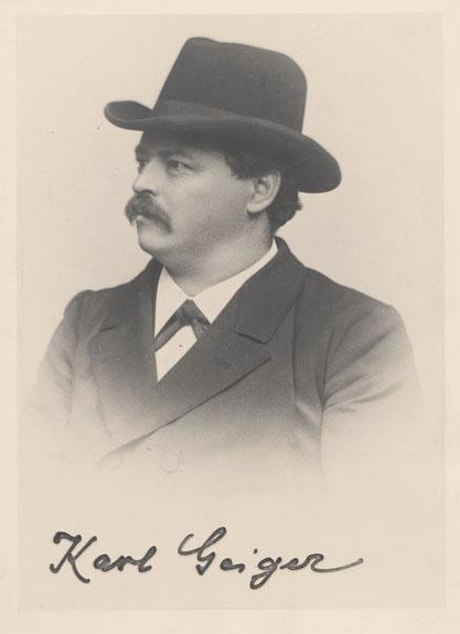 Karl Geiger, Vorsitzender der Universitätsbibliothek von 1895 bis 1920, ist wohl mitverantwortlich für das Erscheinen Bismarcks am Bonatzbau. Bild: Julius Wilhelm Hornung / CC0.**