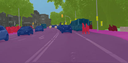 Kameraaufnahme aus selbstfahrendem Auto. Quelle: Daimler AG