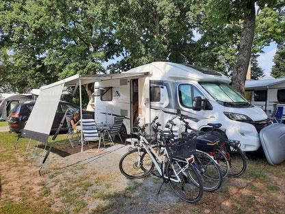 Unsere Parzelle auf der Campingplatz