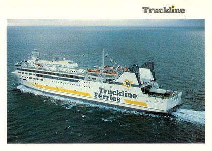 Carte postale officielle de Brafleur dans sa livrée Truckline Ferries.
