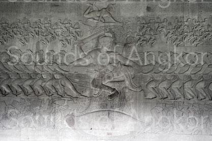 Angkor Vat. Galerie est. Barattage de la mer de lait.