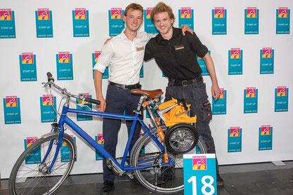 Finn Süderkrüb (li) und Markus Rothkötter beim Start-Up Award 2018 / Foto: Eurobike