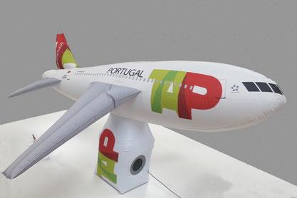 Aereo gonfiabile TAP Portugal mt. 2,50