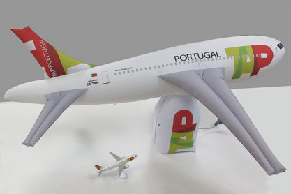 Inflatable TAP Portugal Airplane mt 2,50