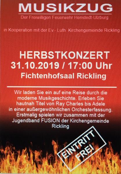 Konzert mit dem Orchester im Fichtenhof-Saal in Rickling