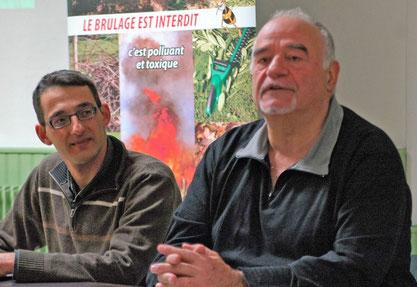 Roland Balbis président SMHV et Didier Lions animateur tri