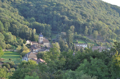 Photo du village de Journans vu d'en haut