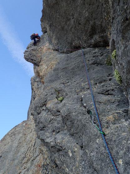Sl6; tolle Kletterei, viel leichter als die Länge zuvor