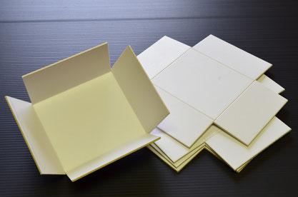 Kartoninneneinrichtung gestanzt aus weißer Vollpappe