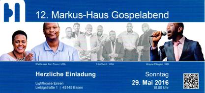 USA  l  Schweden  l  Polen  l  England  -  Der 12. Markus-Haus Gospelabend