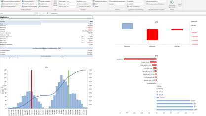 Monte Carlo simulation interpreting results MC FLO Monte Carlo Simulation Excel