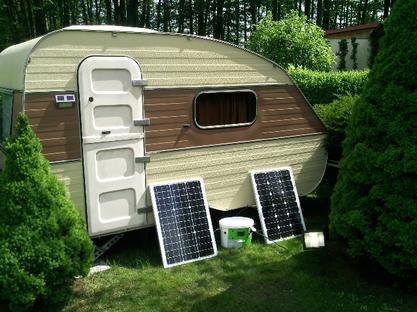 Die Solarzellen können auch auf dem Dach montiert werden...wo sie nicht stören.