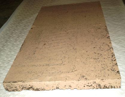 Korkdämmlehmplatte mit Lehm