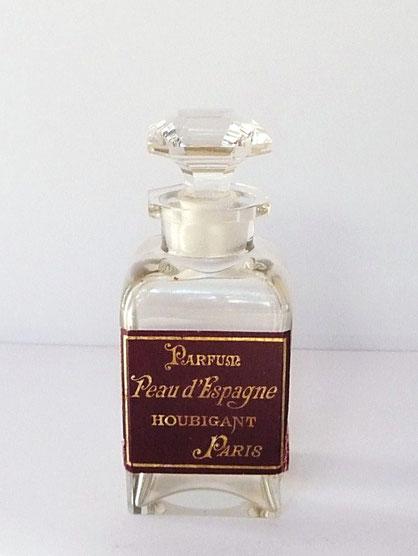 HOUBIGANT - PEAU D'ESPAGNE : PARFUM POUR HOMME - FLACON EN CRISTAL