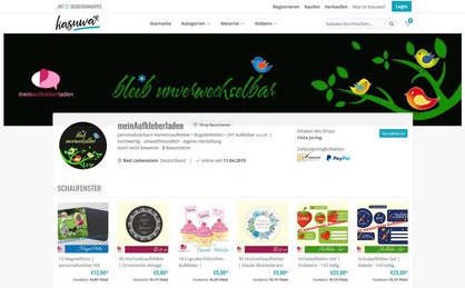 meinAufkleberladen auf neuen Online-Marktplatz für selbstgemachte Produkte - Kasuwa.de