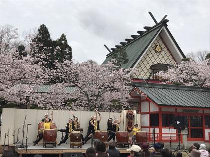 和太鼓 奈良 桜祭り 御嶽山 寧鼓座