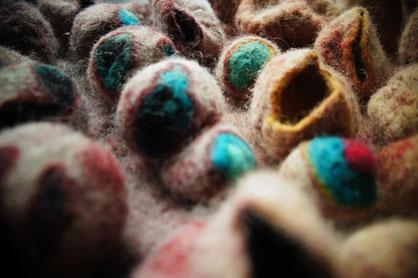 Tableau en laine feutrée à la main
