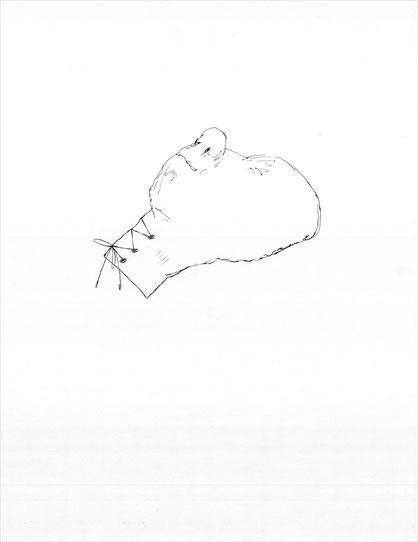Nur k.o., 2010 Bleistift auf Papier, 47x36 cm