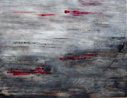 ohne Titel  2018   Acryl auf Leinwand   110 x 140 cm
