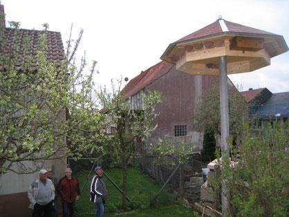 Richtfest Schwalbenturm Donnstetten  Foto: NABU Römerstein
