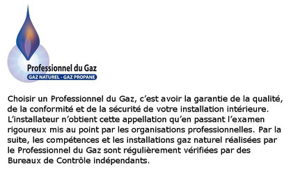 professionnel du gaz qualigaz