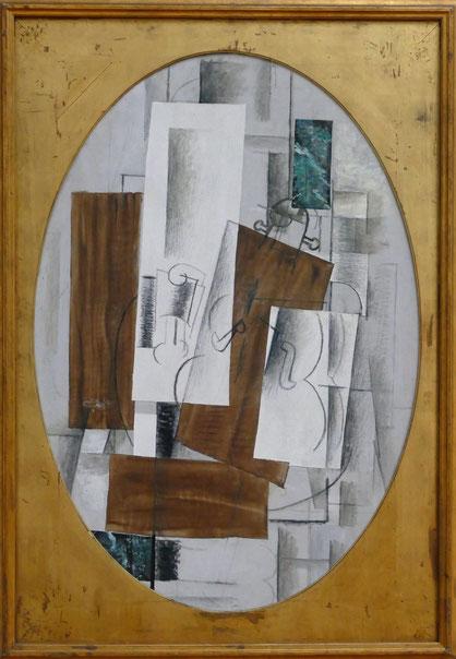 G. Braque : violon en verre, 1912-14