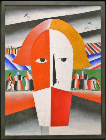 Kazimir Malevich (1879-1935) : tête d'un paysan
