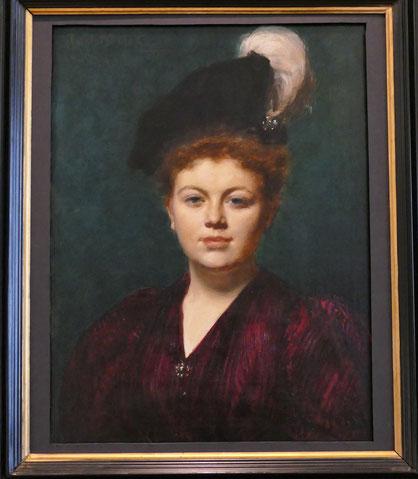 Emile Auguste Charles Carolus-Duran (1837-1917) : portrait d'E. Kharitonenko