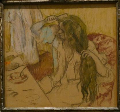 Edgar Degas (1834-1917) : femme à sa toilette