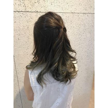 横浜 石川町 美容室 外国人風カラー グラデーションカラー アッシュ グレージュ