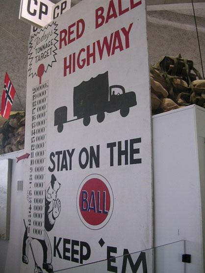 """""""Red Ball Highway"""" der endlose Strom des nachschubs bekam einen Namen."""
