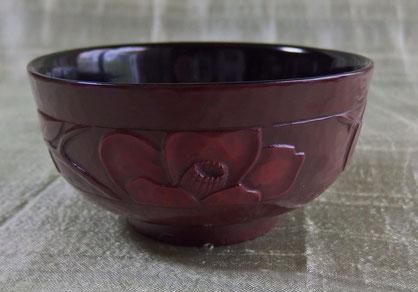 お椀 椿 / 鎌倉彫青山工房