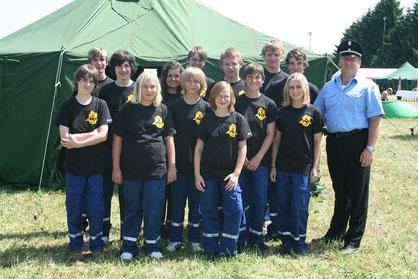 Gruppe zum Zeltlager 2010