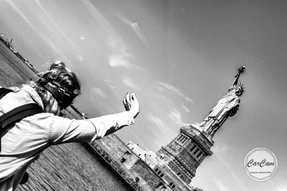 New-York, nyc, big apple, manhattan, liberty, statue, bartoldi, eiffel, carcam, je shoote, black and white, noir et blanc, art, street photography, travel